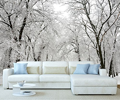 Stickerswall winter wonderland 1028 342cm w x 242cm h for Winter wall murals